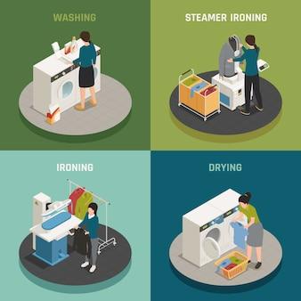 Wäscherei-design-konzept