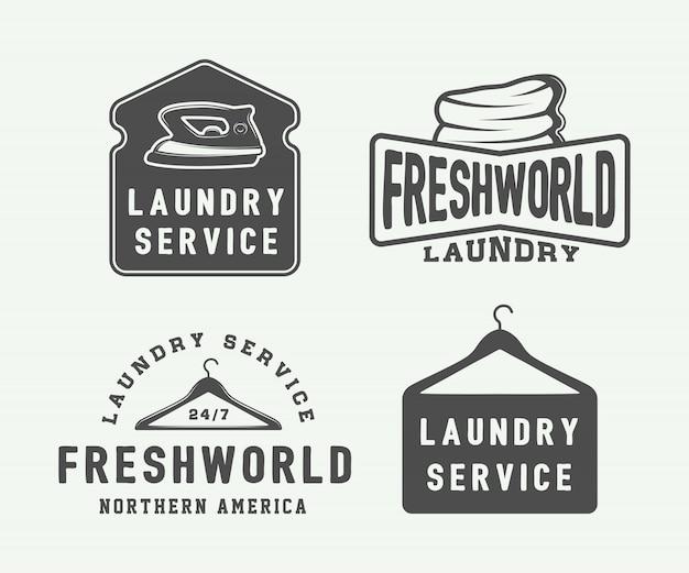 Wäscherei, embleme reinigen