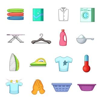 Wäscherei-ikonen eingestellt