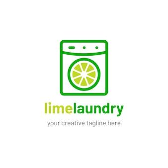 Wäscherei logo design mit kalk-symbol