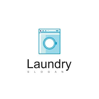 Wäscherei-logo