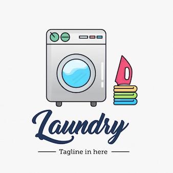 Wäscherei-trockenes sauberes logo