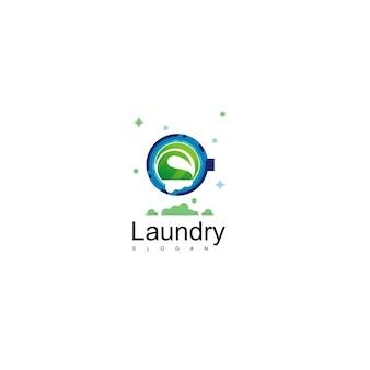 Wäscheservice logo design vektor
