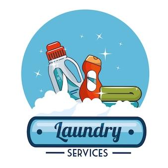 Wäscheservice logo emblem abzeichen