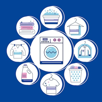 Wäscheservice stellt icons um