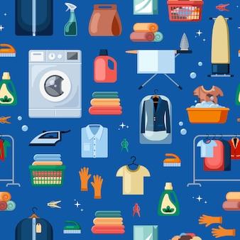 Wäscheservice und zubehör nahtloses muster