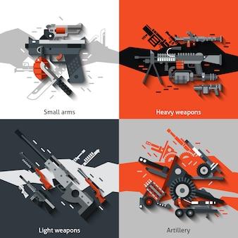 Waffe-design-konzept