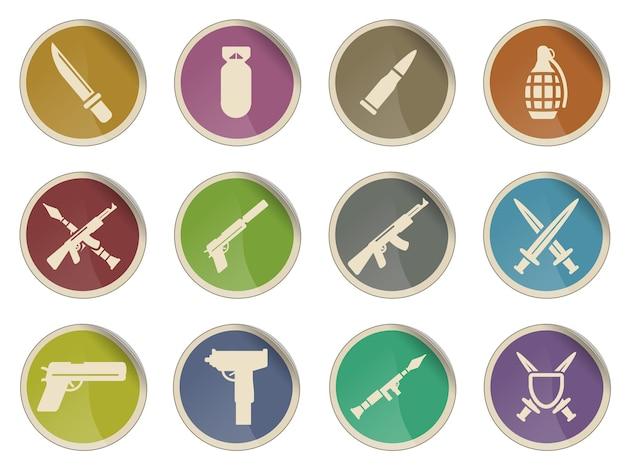 Waffe einfach symbol für websymbole