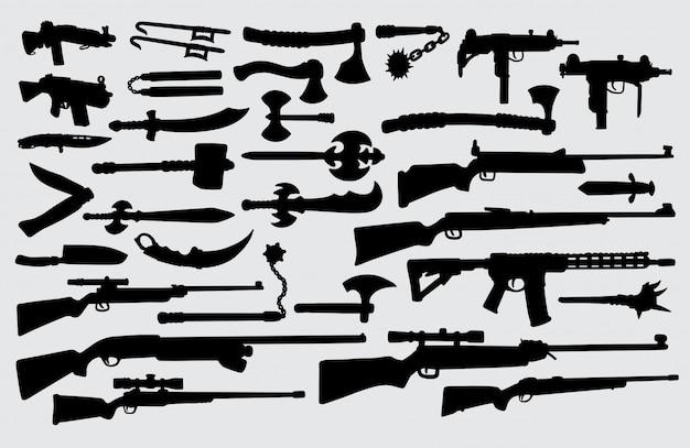 Waffe silhouette.