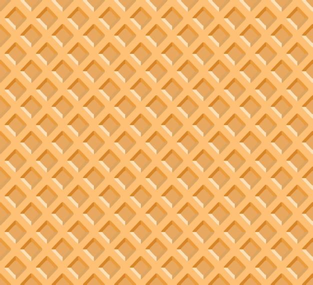 Waffel textur hintergrund vektor