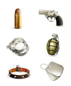 Waffen, icon-set
