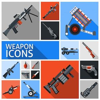 Waffen icons set
