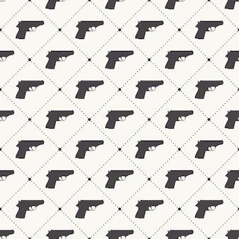 Waffenmustermuster auf weißem hintergrund. kreative und militärische illustration