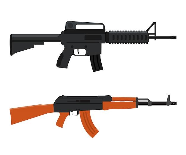 Waffenwaffe. m16 und ak47.