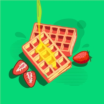 Wafles-frühstück