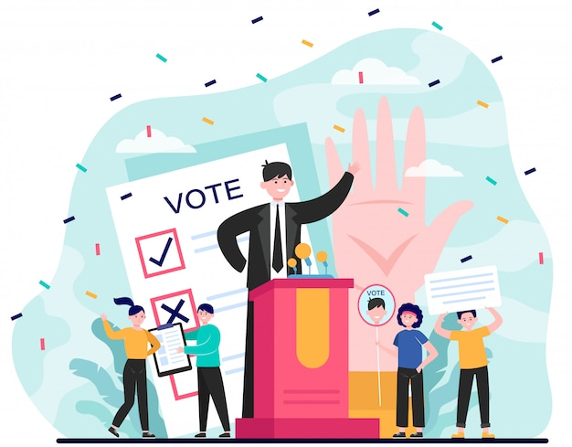 Wahl und politischer wahlkampf