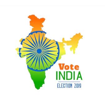 Wahl von indien 2019 fahnendesign