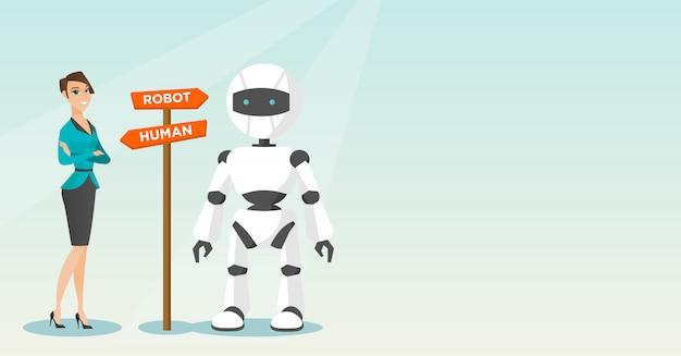 Wahl zwischen künstlicher intelligenz und mensch