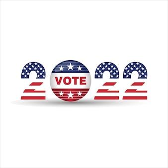 Wahlabstimmung 2022 usa-flagge 2022 frohes neues jahr