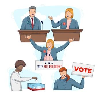 Wahlkampfszenen