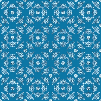 Wahrer blauer dekorativer strudel-hintergrund mit weiß