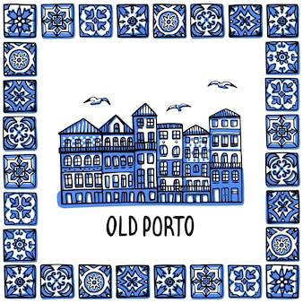 Wahrzeichen von old porto, portugal