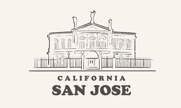 Wahrzeichen von san jose illustration design