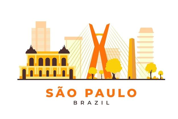 Wahrzeichen von sao paulo in gelbtönen