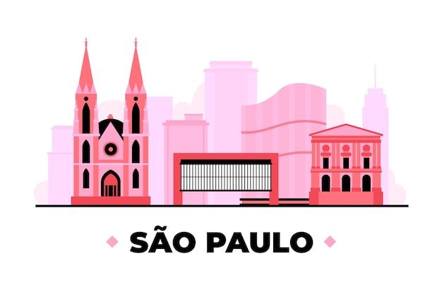 Wahrzeichen von sao paulo in rosatönen