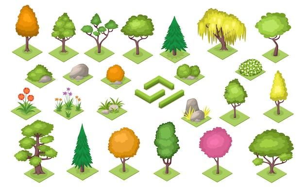 Wald- oder parkdekorationselemente baumstrauch