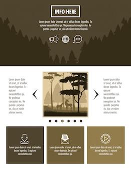 Waldbroschüre infographik