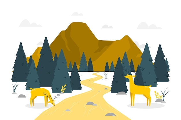 Waldkonzeptillustration