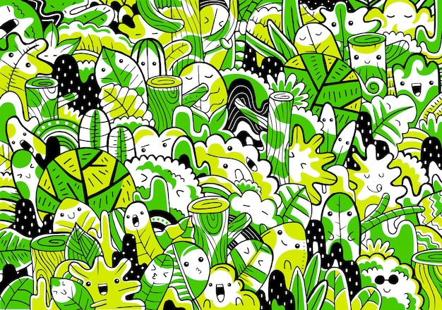 Waldlandschaft.