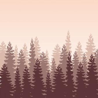 Waldlandschaftsvektor