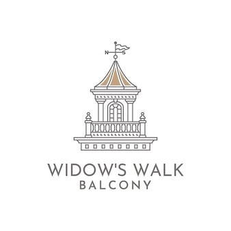 Walk-balkon-illustrationslogo der witwe