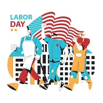 Walking mitarbeiter für labor day usa