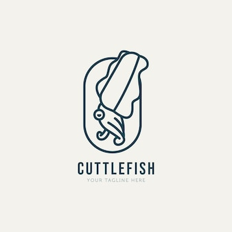 Walking tintenfisch minimalistische linie kunst logo vorlage vektor design illustration einfaches modernes logo