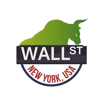 Wall street new york stier