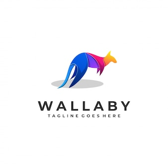 Wallaby farbenfrohes logo