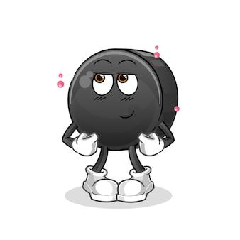 Walnuss schüchterne zeichentrickfigur