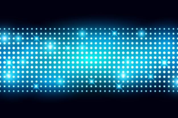 Wand führte hellen bildschirm mit lightbulp-vektor-illustration