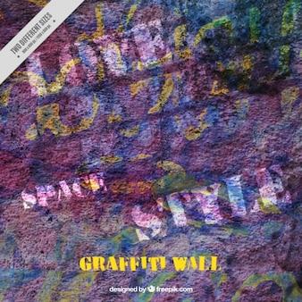 Wand gemalt textur mit graffiti