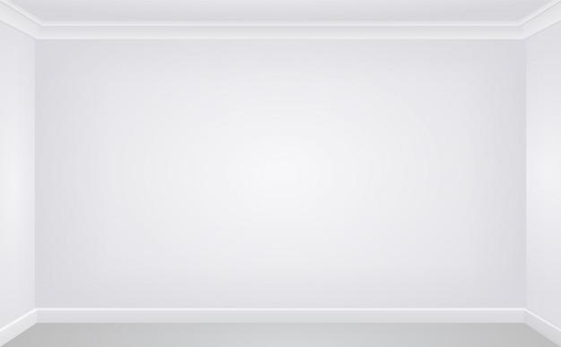 Wand in einem weißen leeren raum