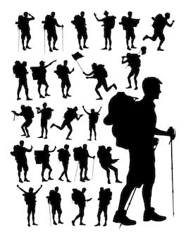 Wanderer-silhouette