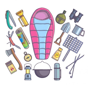 Wandern camping bergsteigen ausrüstung