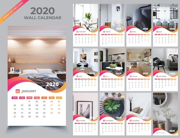 Wandkalender 2020 vorlage