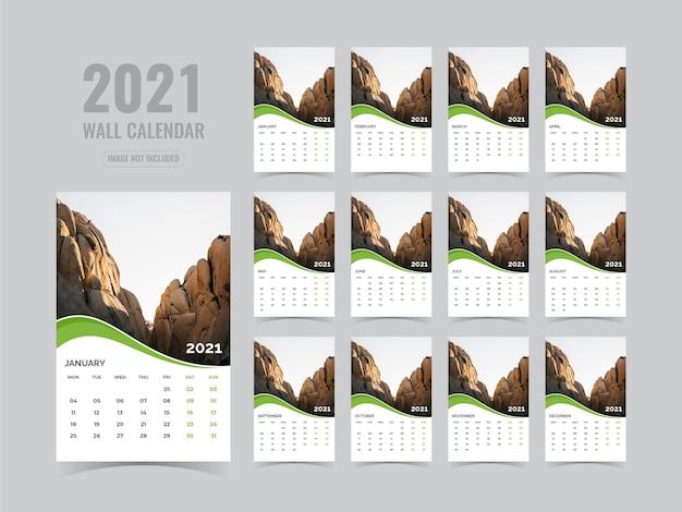 Wandkalender 2021 vorlage