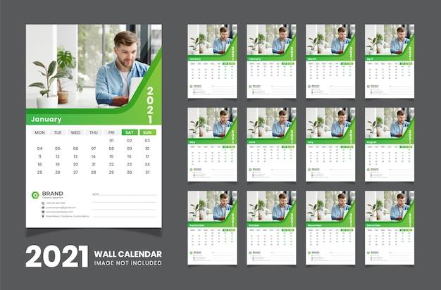 Wandkalender 2021 Premium Vektoren