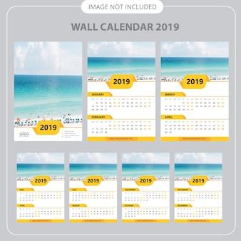 Wandkalender-planer-schablone 2019