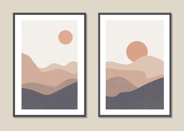 Wandkunstlandschaft der wüstendünen.